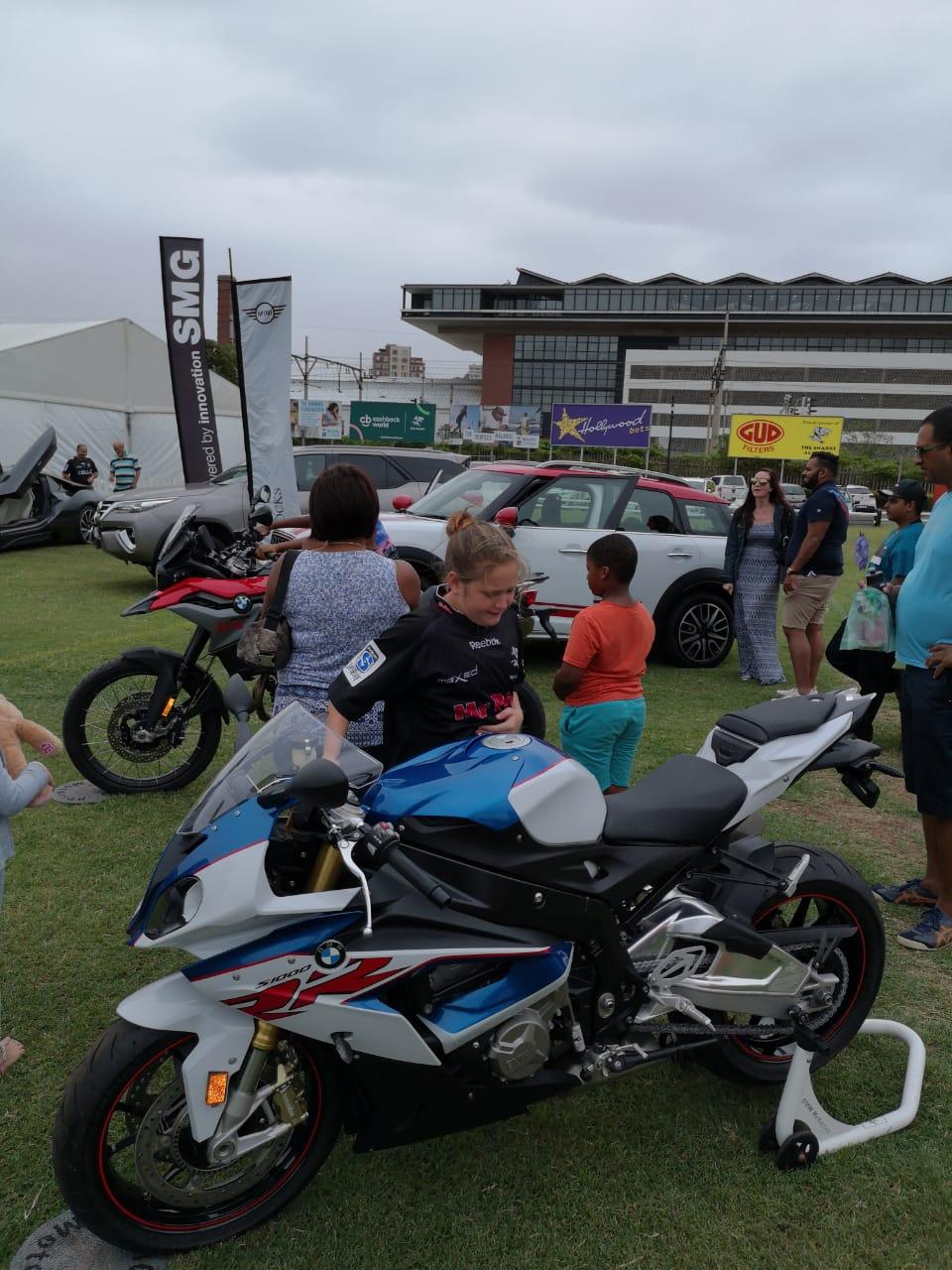 SMG KZN Motorrad at the Sharks Fun Day
