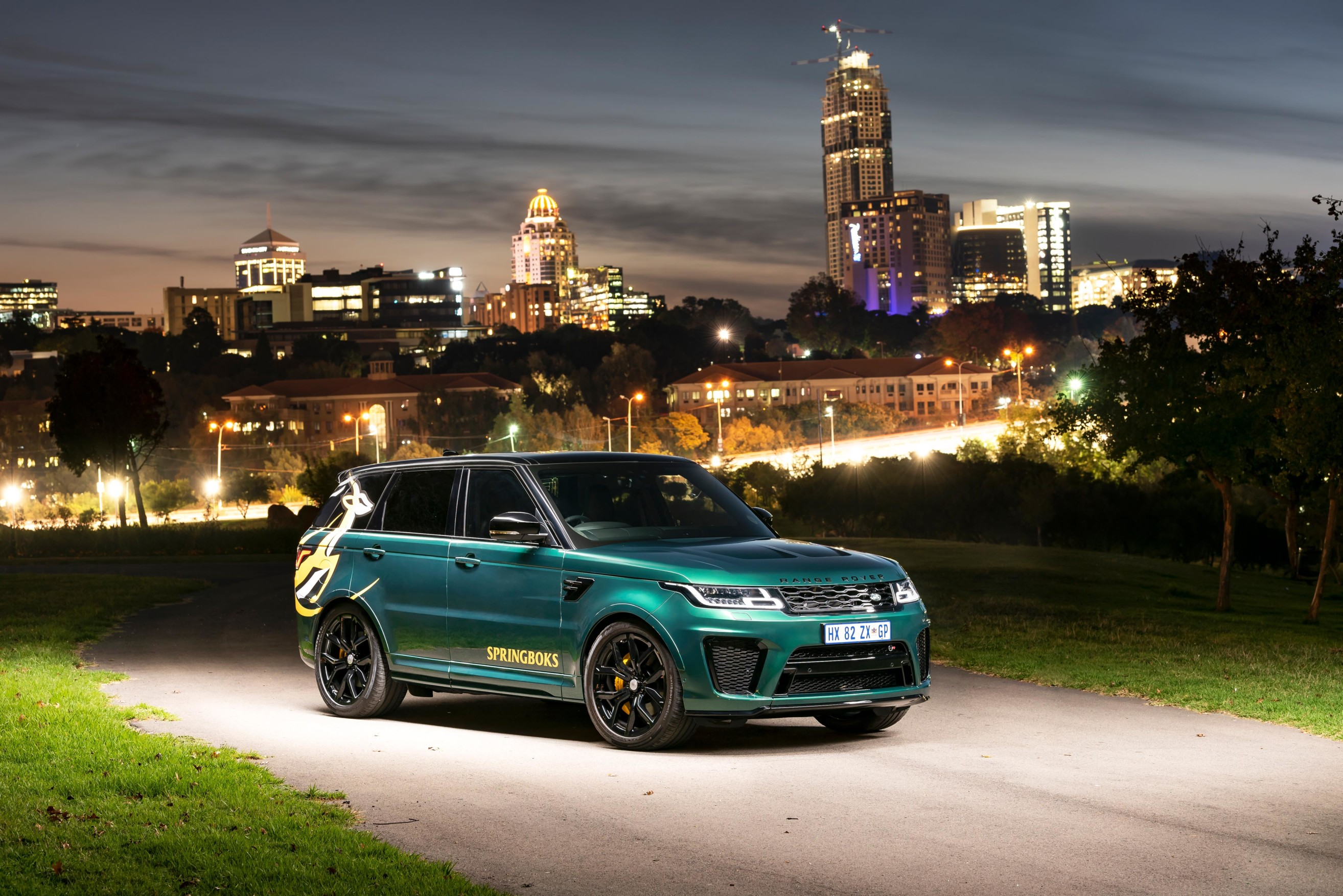Custom Range Rover Sport SVR built as a tribute to the Springboks