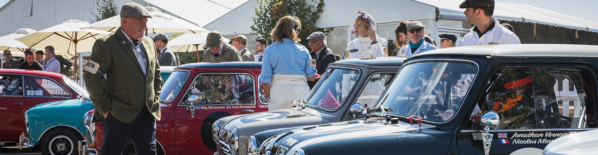 MINI MAKES ITS DEBUT AT GOODWOOD REVIVAL.